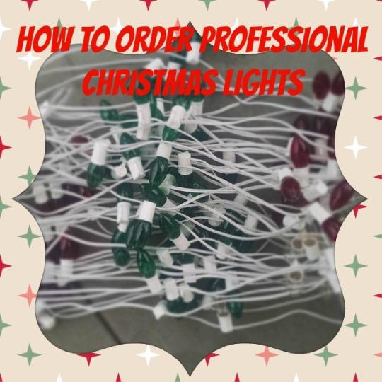 Christmas lights installatoin
