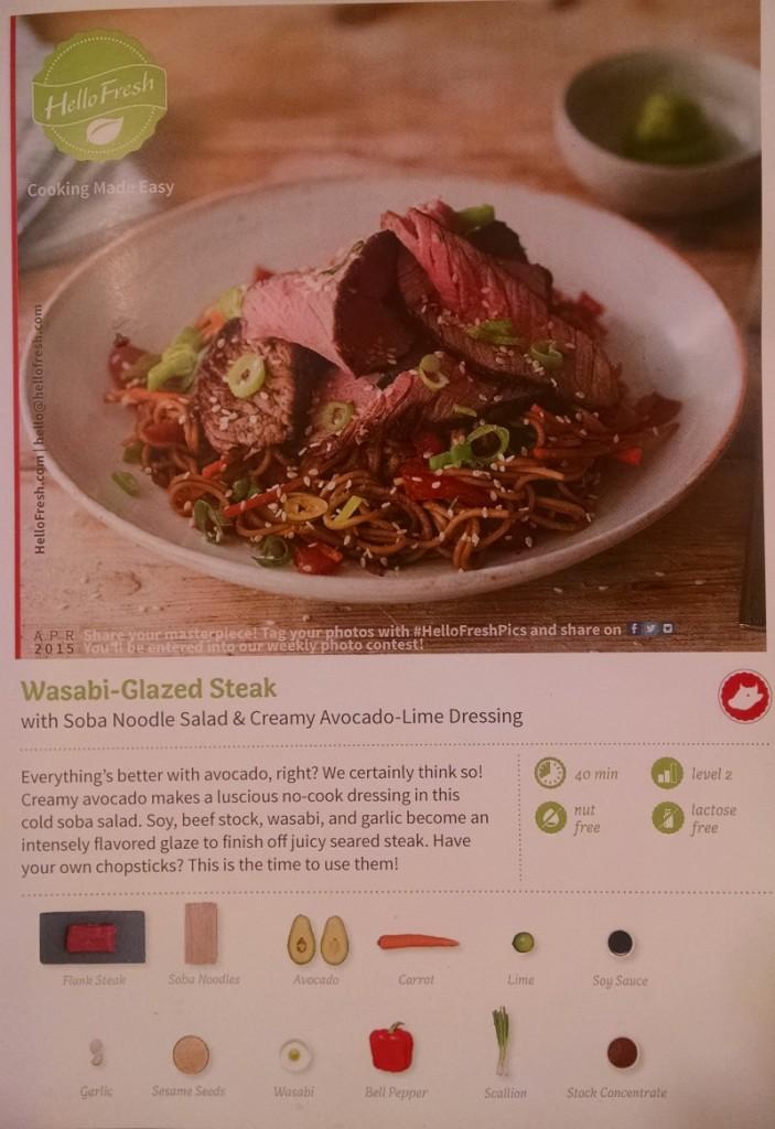 Wasabi Grilled Steak